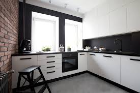 cuisine moderne cuisine moderne avec mur de briques goodies kitchens and decoration