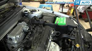 2001 hyundai elantra engine how to replace change install spark plugs 2001 06 hyundai elantra