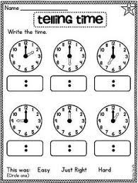 telling time to the hour and half hour activities so many good