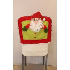 christmas chair back covers christmas chair cover 3pcs lot 3d santa snowman elk chair back