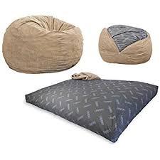 Bing Bag Chair Amazon Com Cordaroy U0027s Khaki Corduroy Convertible Bean Bag Chair