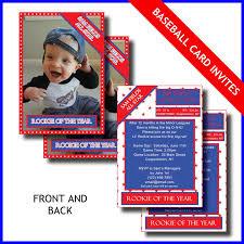 Where To Buy Birthday Invitation Cards 1st Birthday Invitation Card Lil Rookie Baseball Card
