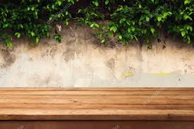 wooden leaves wall wooden deck table wall with leaves stock photo