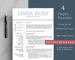 Creative Resume Templates For Mac Creative Resume Template Resume For Word And Pages 1 2 U0026