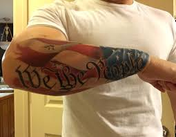 small american flag tattoos tim mclemee owner artist lazie from the lost boys in tyler texas