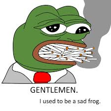 Sad Frog Meme - not a sad frog imgur