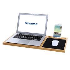 Laptop Desk Holder Songmics Bamboo Desk Board Multi Tasking Laptop Tablet