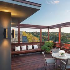 modern patio modern outdoor fountains balcony contemporary with modern roof