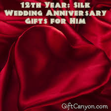wedding anniversary gifts 12th year silk wedding anniversary gifts for him gift
