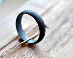 non metal wedding bands s oxidized sterling silver wedding band 5mm black