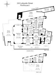 Bel Air Floor Plan by The Puck Penthouse New York City