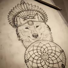 photos wolf dreamcatcher drawing drawing gallery