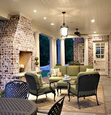 brick home additions porch traditional with lantern outdoor