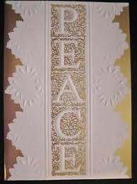 carol wilson christmas cards carol wilson christmas card peace gold foil white lace ebay