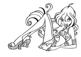 coloring pages winx club are sitting relaxed 462510 coloring