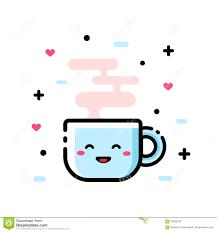 cute cartoon cup of tea funny cartoon vector illustration icon