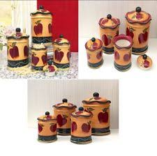 apple canisters for the kitchen apple canisters ebay