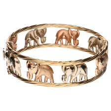 rose gold white gold bracelet images Yellow gold bracelet with white gold and rose gold elephants jpg
