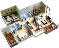 house maker 3d fascinating 25 more 3 bedroom 3d floor plans simple free house plan