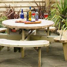 Build Your Own Round Wood Picnic Table by Diy Wooden Picnic Table How To Build Wooden Picnic Tables