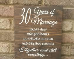 30 wedding anniversary gift 30th anniversary etsy