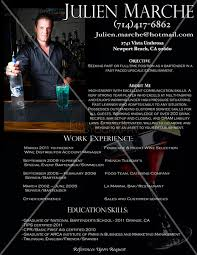 bartender resume template bartender resume sles free sle template with picture letter