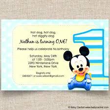 disney mickey 1st birthday invitations baby cachet