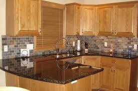 backsplash for dark cabinets and dark countertops honey oak kitchen cabinets with granite countertops kutskokitchen