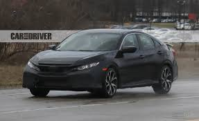 Honda Civic Si Two Door 2017 Honda Civic Si Sedan Spied News Car And Driver