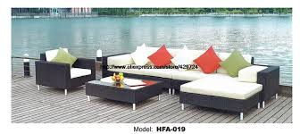 Rattan Table L 2016 L Shaped Rattan Sofa Whole Set Include Table Cushions Garden