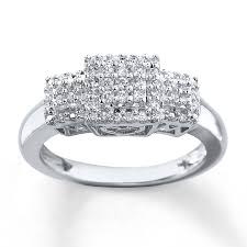 white gold mothers ring diamond ring 1 6 ct tw cut sterling silver