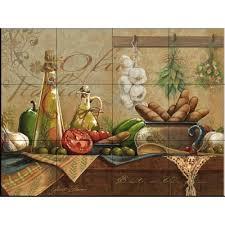 kitchen backsplash murals the tile mural store olio d olive 24 in x 18 in ceramic mural wall