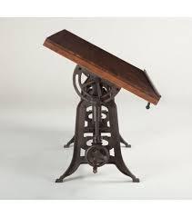 Iron Drafting Table Walnut Reclaimed Iron Drafting Table