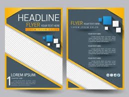 modern flyer template with squares on grey background vectors