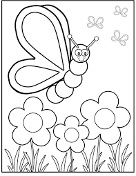 butterfly on spring day coloring pages for kids d6w printable