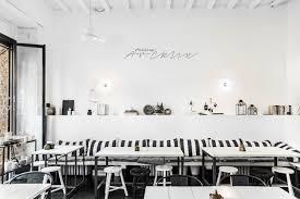 italian interiors design restaurant milan with ethnic scandi mood