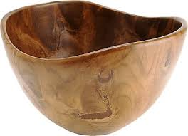 wood bowl bahari teak wood curved lip large bowl 12x7 h barneys new york