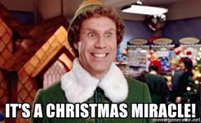 Christmas Miracle Meme - it s a christmas miracle buddy the elf kryptik meme generator