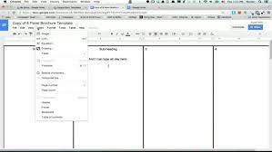 docs brochure template tri fold brochure template docs brochure templates