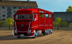 mercedes benz actros mp4 red euro truck simulator 2 mercedes benz actros 3242 1 22 x link