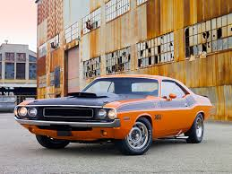 dodge challenger 1970 orange 1970 dodge challenger t a orange and black 3 4 front view on