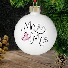 Baby S First Christmas Bauble M S by Personalised Gifts Uk Wedding Christmas Gifts For Dogs Mr
