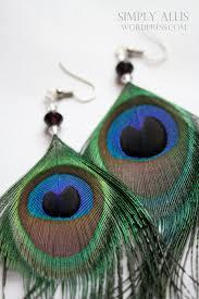 peacock feather earrings s peacock feather earrings diy simply allis