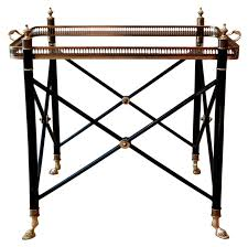 removable tray top table sold directoire style tea table side table with removable glass
