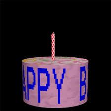 new trending gif on giphy happy birthday fire happy birthday cake