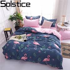 geometric pattern bedding solstice cartoon pink flamingo bedding sets 3 4pcs geometric pattern