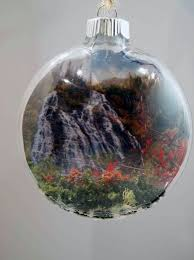 decorating with olympic national park ornaments and calendars