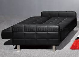 Black Tufted Sofa by Tufted Leatherette Modern Living Room W Sleeper Sofa