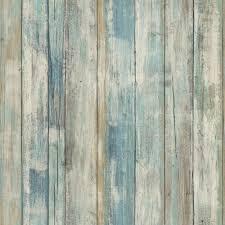 blue distressed barnwood plank wood peel and stick wallpaper