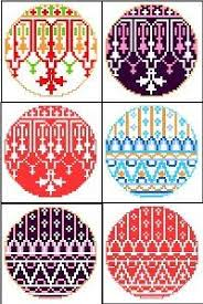 free geometric retro cross stitch patterns stitches crosses